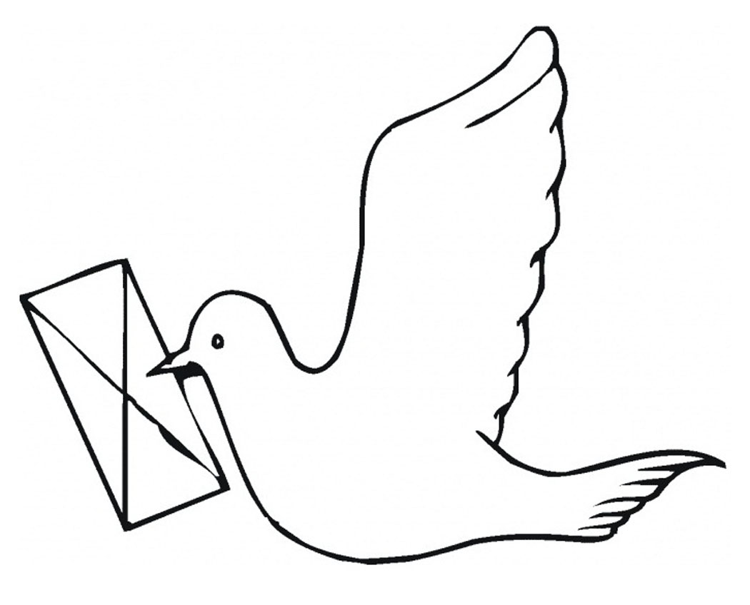 coloring pages pigeon - photo#8