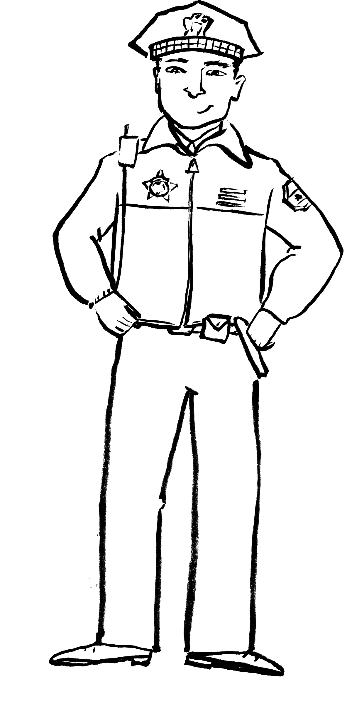 Printable Policeman Coloring Pages Kids