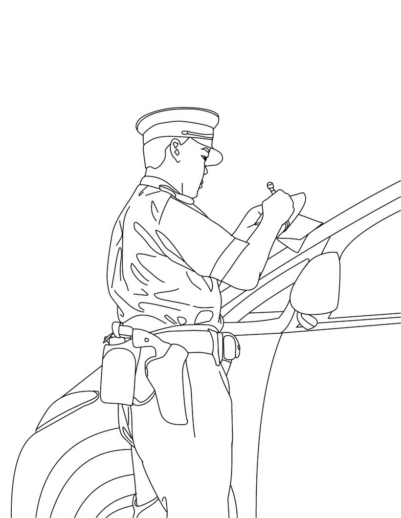 policeman coloring book pages - photo#21