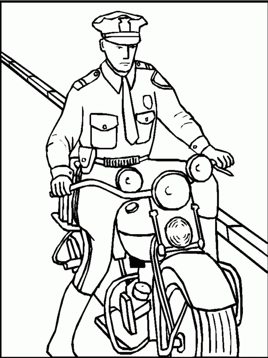 policeman coloring pages kids - photo#3