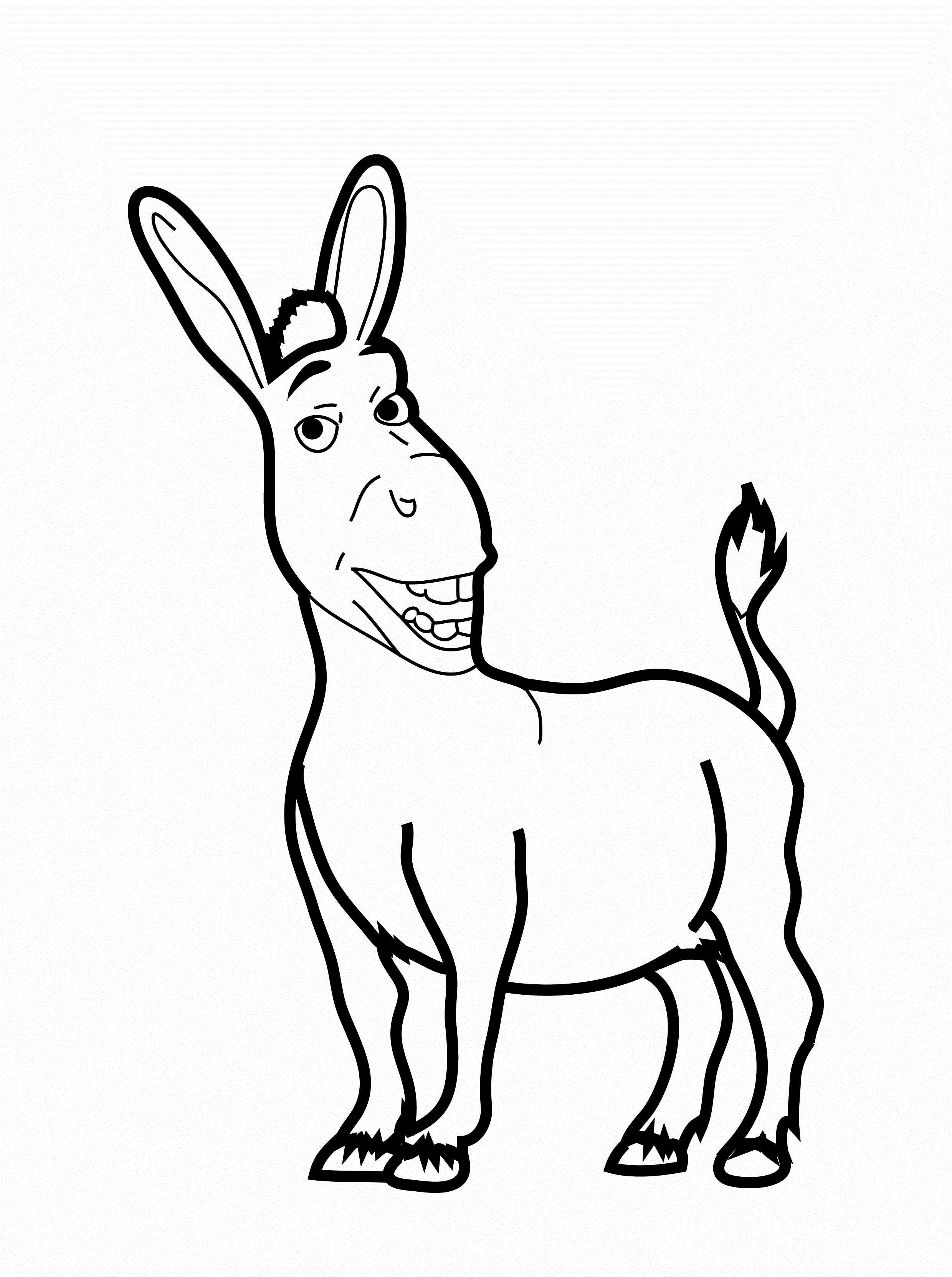d is for donkey coloring pages - photo #21