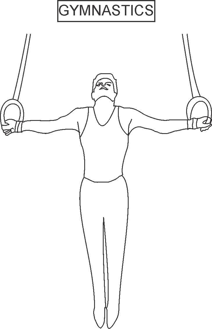 gymnasics coloring pages - photo#22