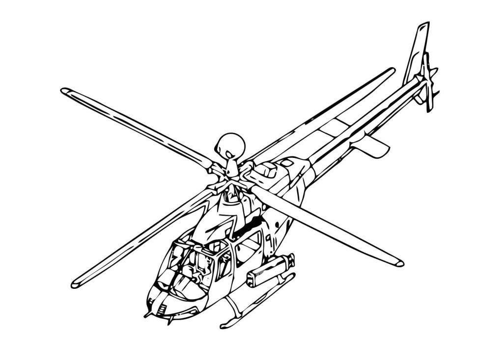 Printable Helicopter Coloring Page