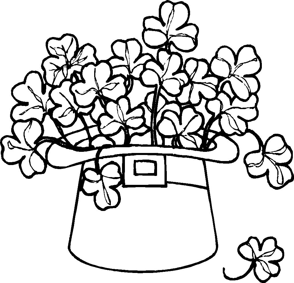 printable shamrock coloring pages - Printable Shamrock Coloring Pages