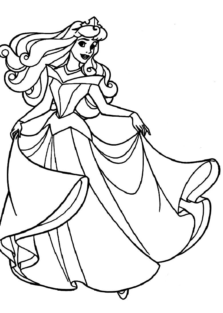 Coloring Pages To Print : Free printable sleeping beauty coloring pages for kids