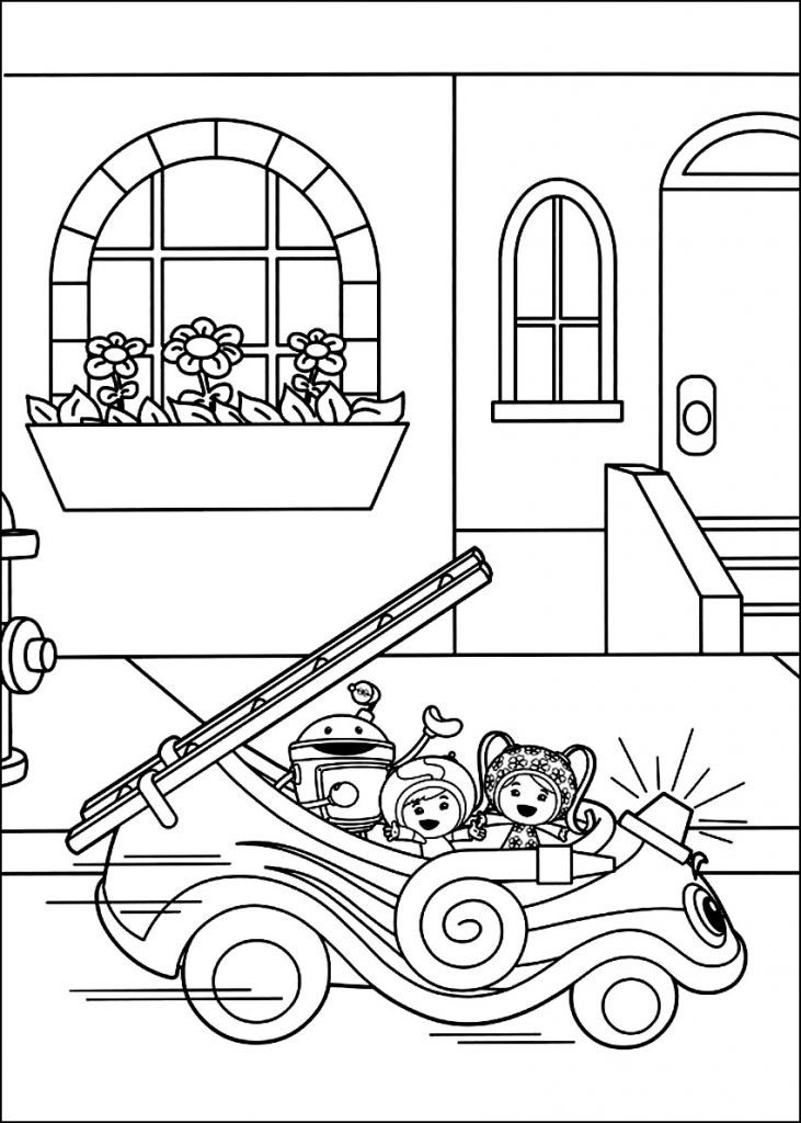team umizoomi coloring pages print - photo#21