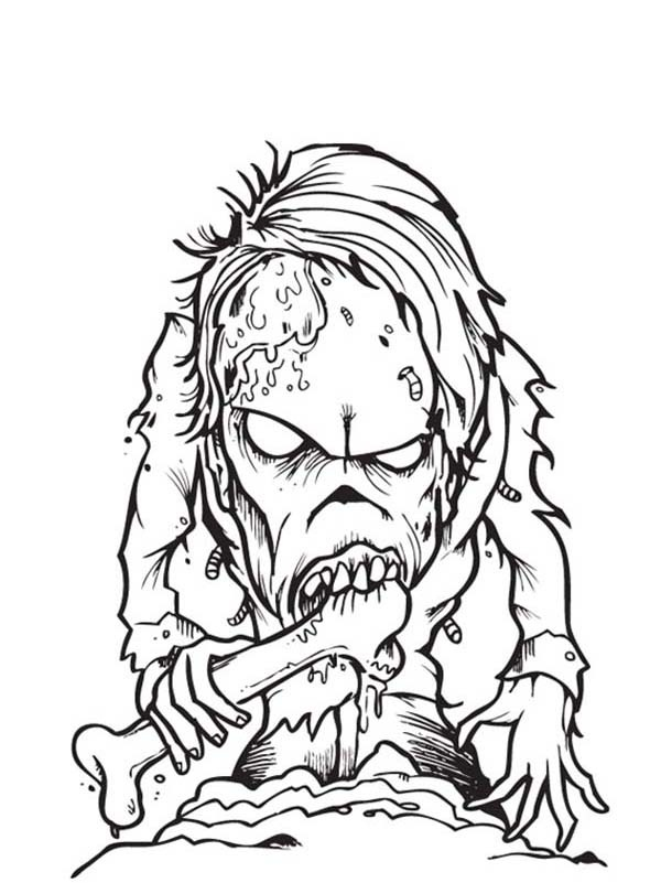printable zombie coloring pages - Zombie Coloring Pages