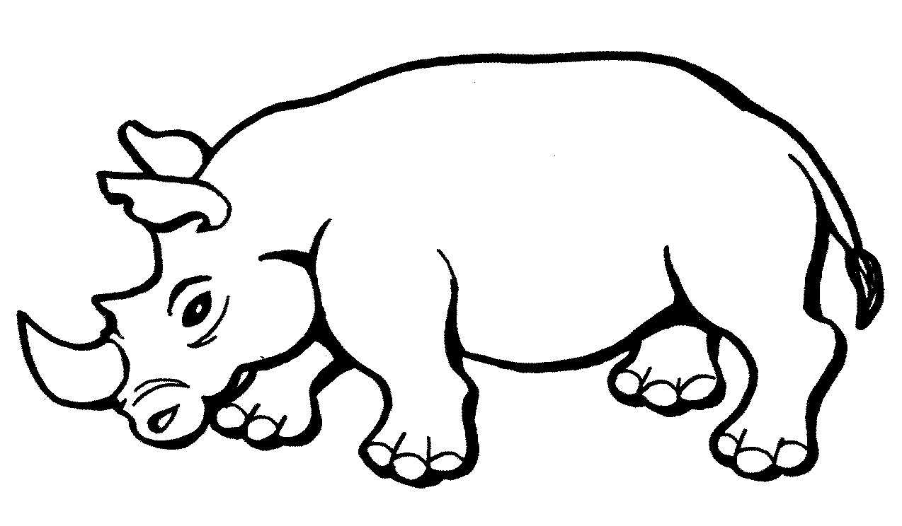 rhinoceros coloring pages for kids rhinoceros coloring pages printable - Colour In For Kids
