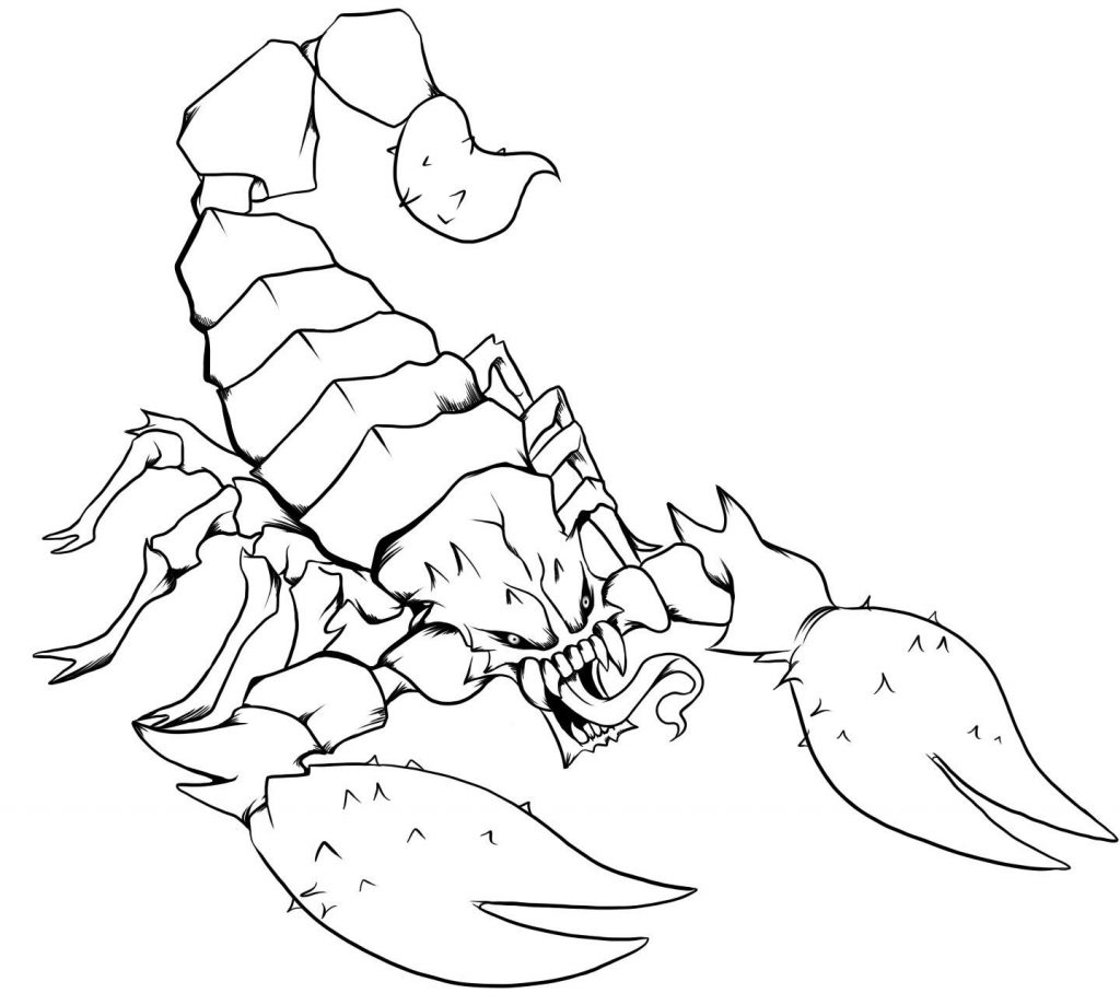 Scorpion Coloring Pages Pictures