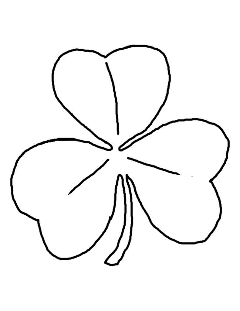 shamrock coloring pages for toddlers - photo#44
