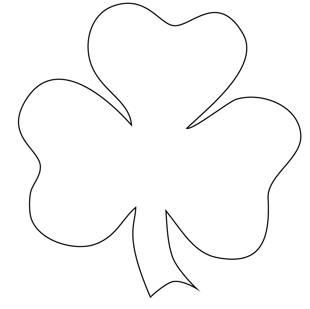 Clever image for shamrock template printable