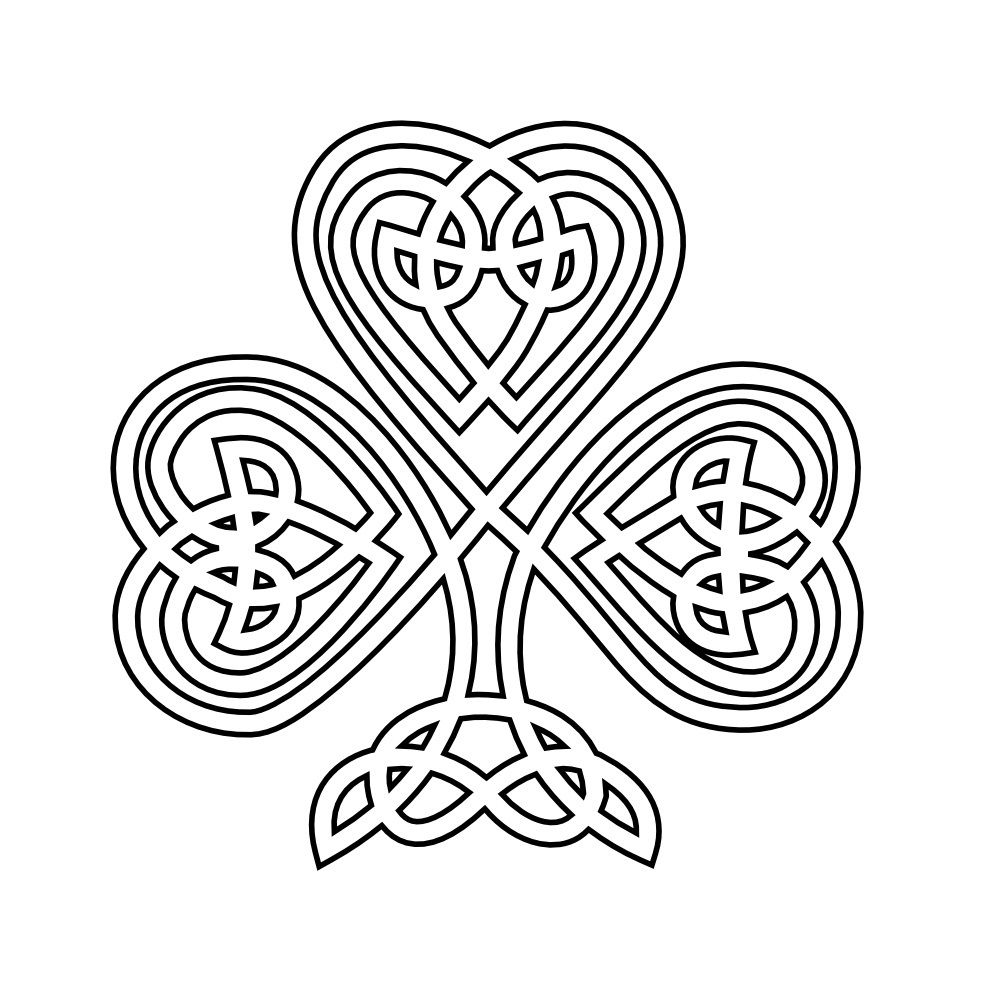 Free printable shamrock coloring pages for kids for Celtic coloring pages printable