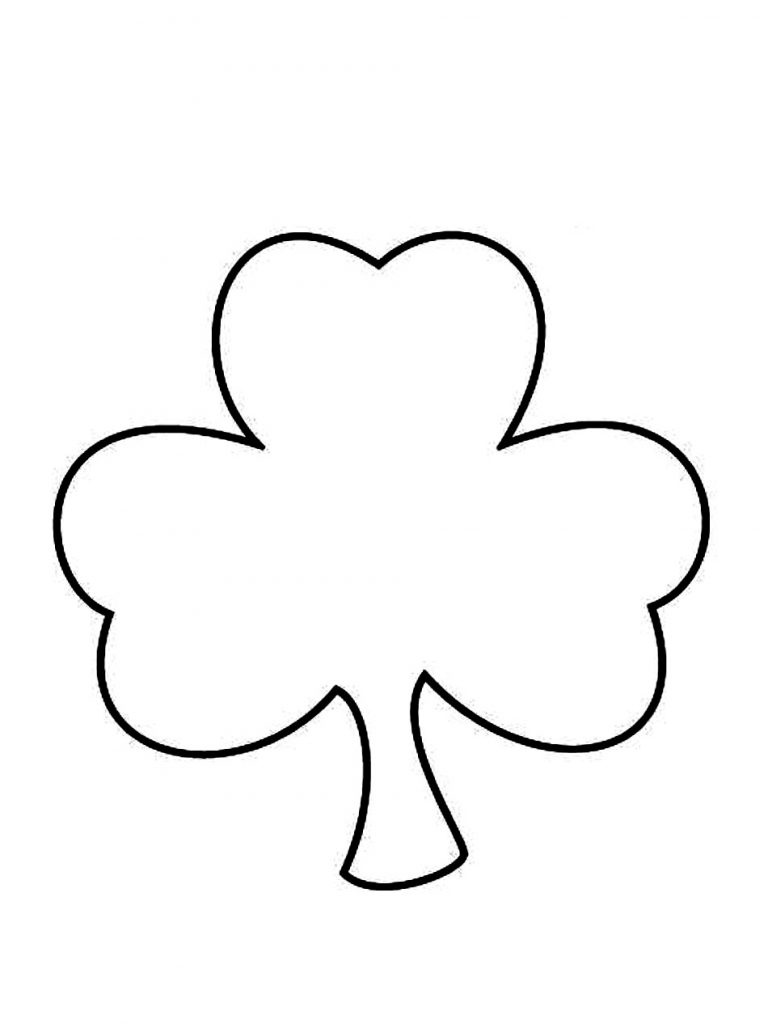 Divine image within shamrock coloring pages printable