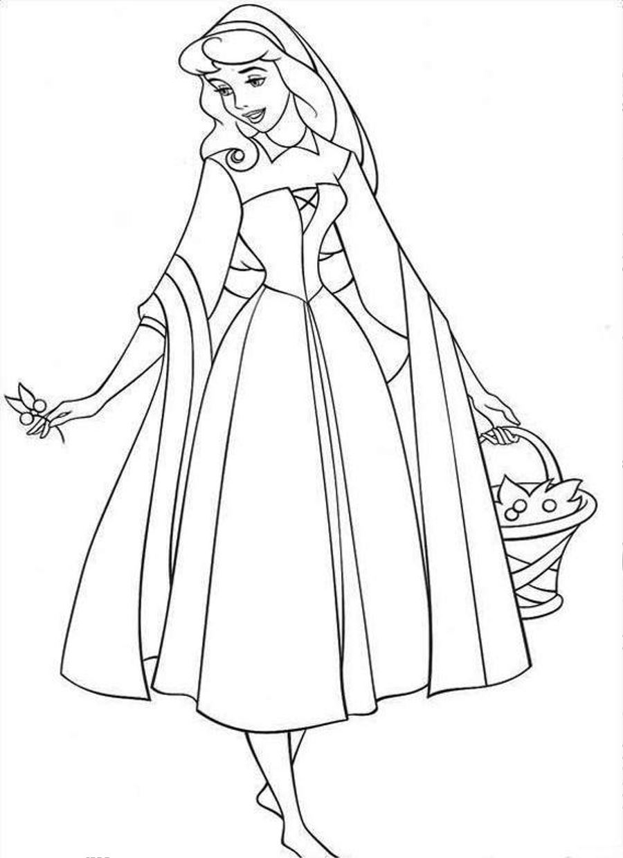 sleeping beauty coloring pages to print - Sleeping Beauty Coloring Pages
