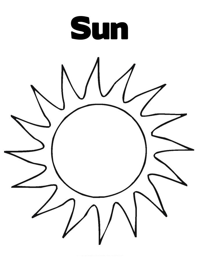 template of the sun free printable sun coloring pages for