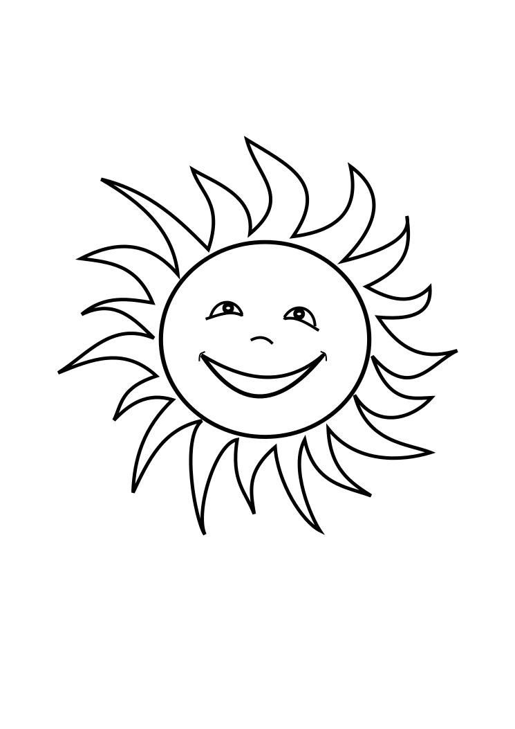 Sun Coloring Pages on Fairy Tales Theme