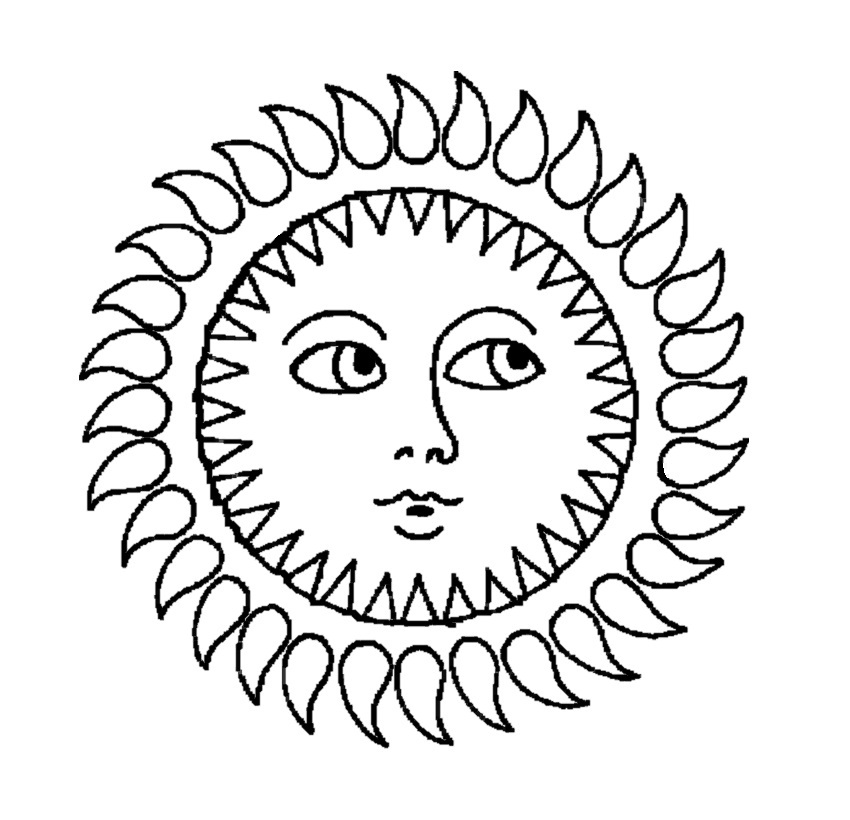 coloring pages sunshine - photo#28