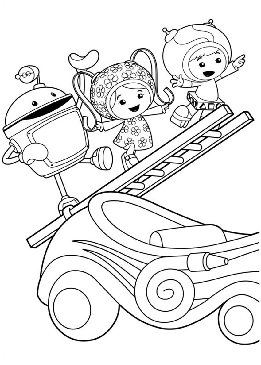 printable free coloring pages - free printable team umizoomi coloring pages for kids