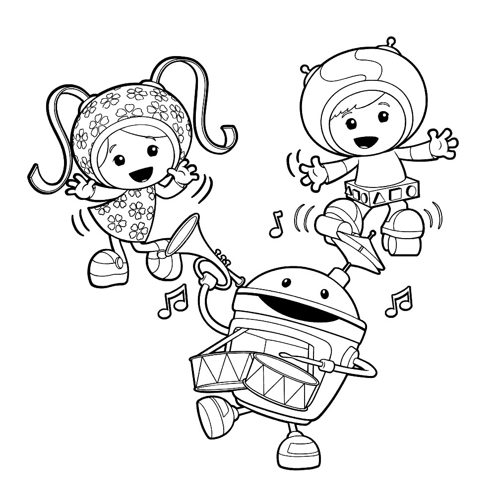 Free printable team umizoomi coloring pages for kids Coloring book day