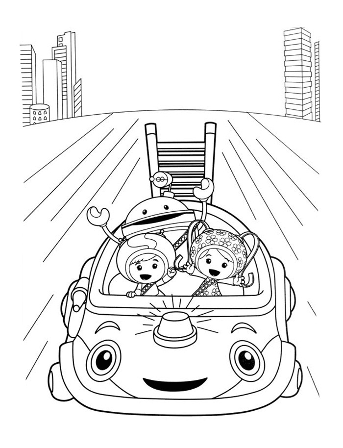team umizoomi coloring pages print - photo#31