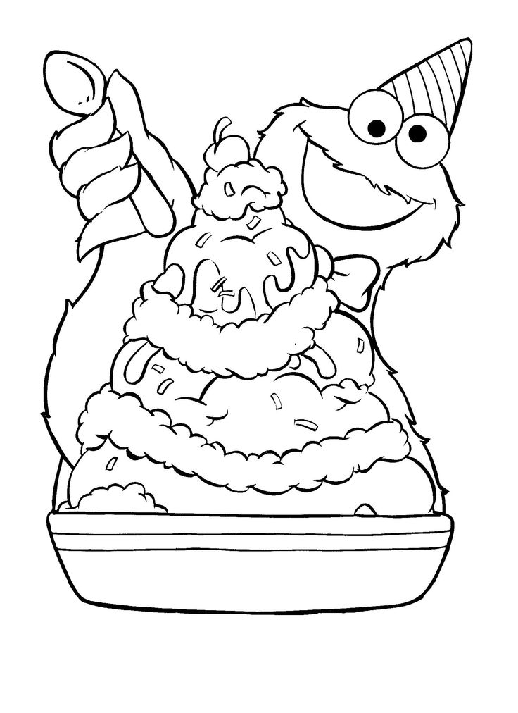 ice cream stand coloring pages - photo#15