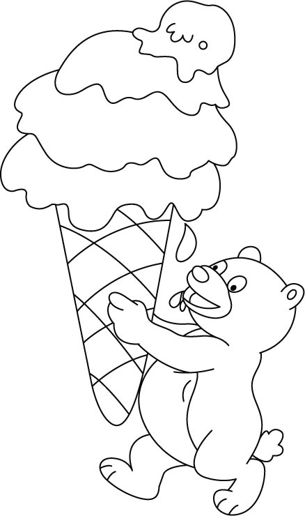 Free Ice Cream Coloring Pages