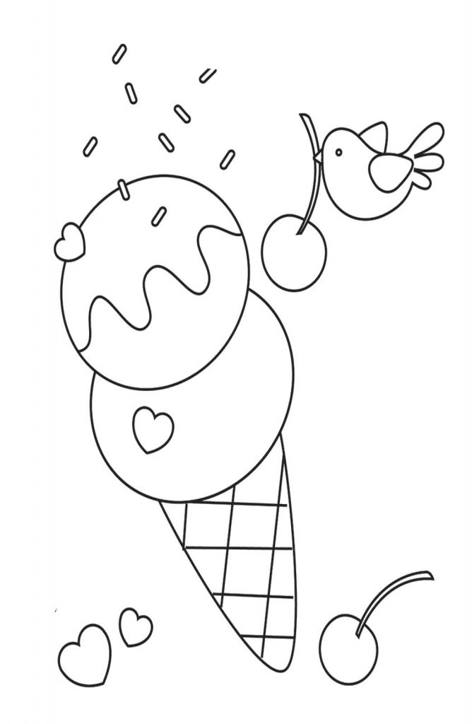 Free Printable Ice Cream Coloring Pages