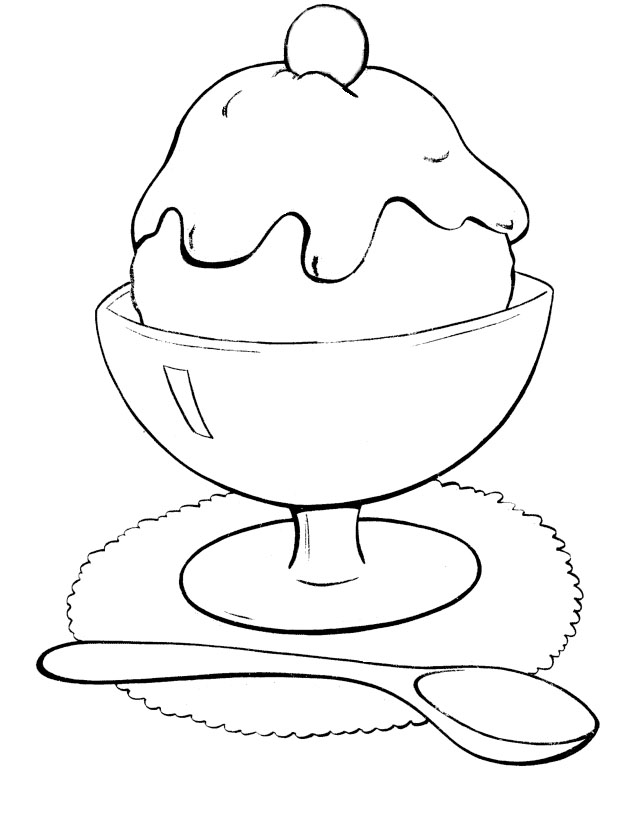Free Sunday Ice Cream Coloring Pages