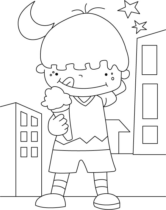 Ice Cream Coloring Page Free
