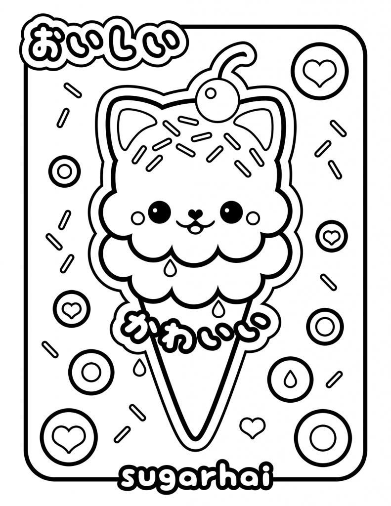 Cat ice cream coloring pages ~ Free Printable Ice Cream Coloring Pages For Kids