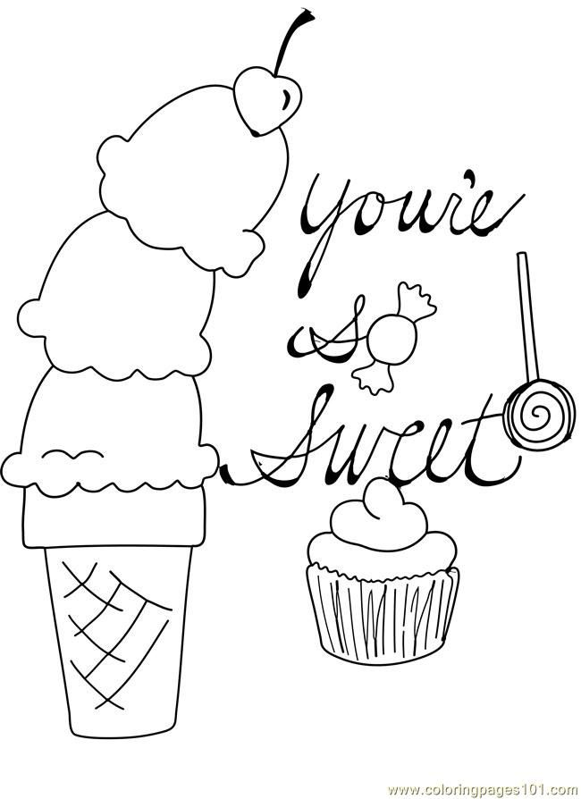 Sweet Ice Cream Coloring Pages