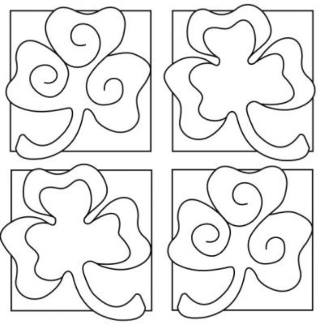 shamrock coloring pages for toddlers - photo#7