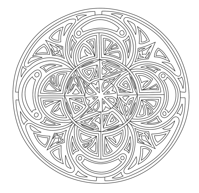 Celtic Kleurplaten Voor Volwassenen Pinterest Free Printable Mandala Coloring Pages For Adults Best