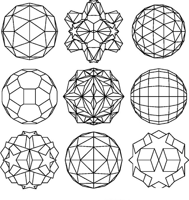 coloring pages geometric shapes - photo#24