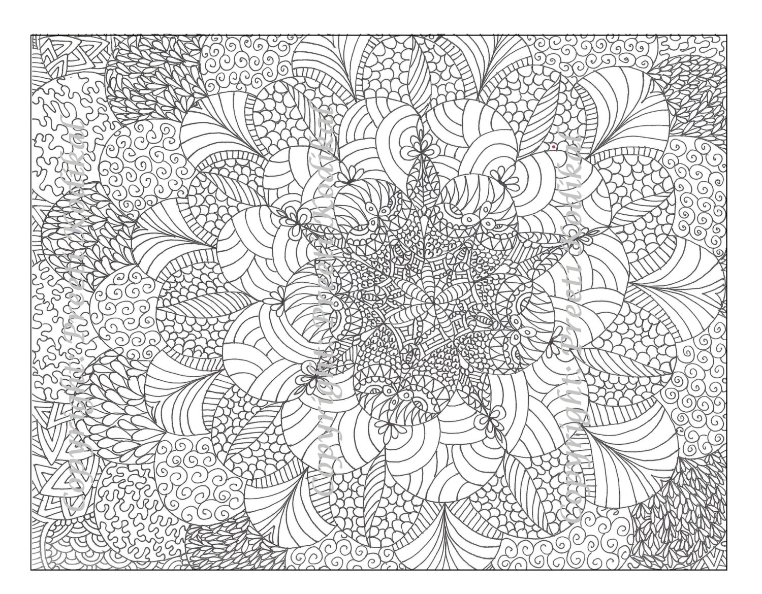 Peaceful image for printable adult coloring pages abstract