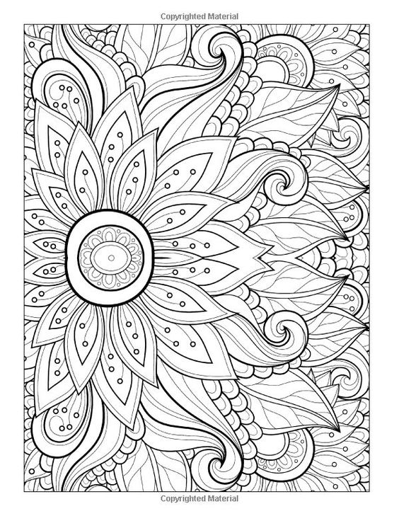 flower detailed coloring pages - photo#32