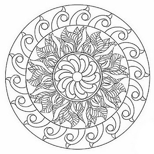 Printable Coloring Pages For Adults Mandala : Free printable mandala coloring pages for adults best