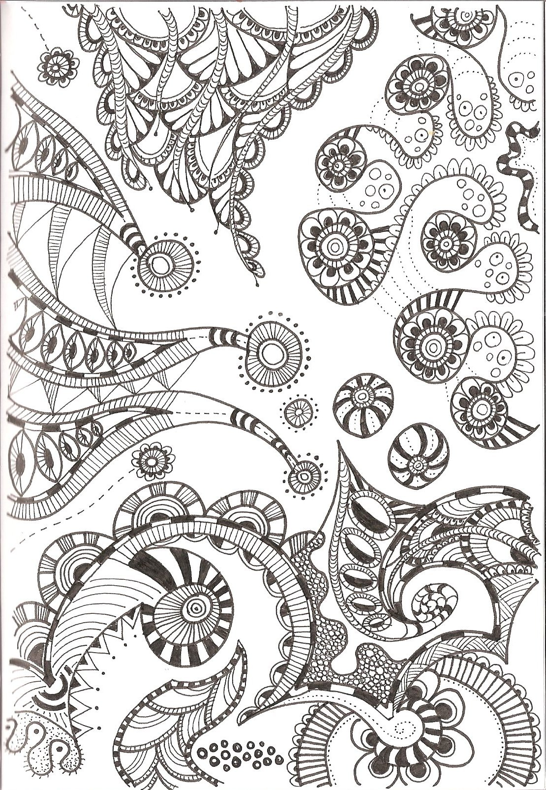 Disney zentangle coloring pages - Free Printable Zentangle Coloring Patterns