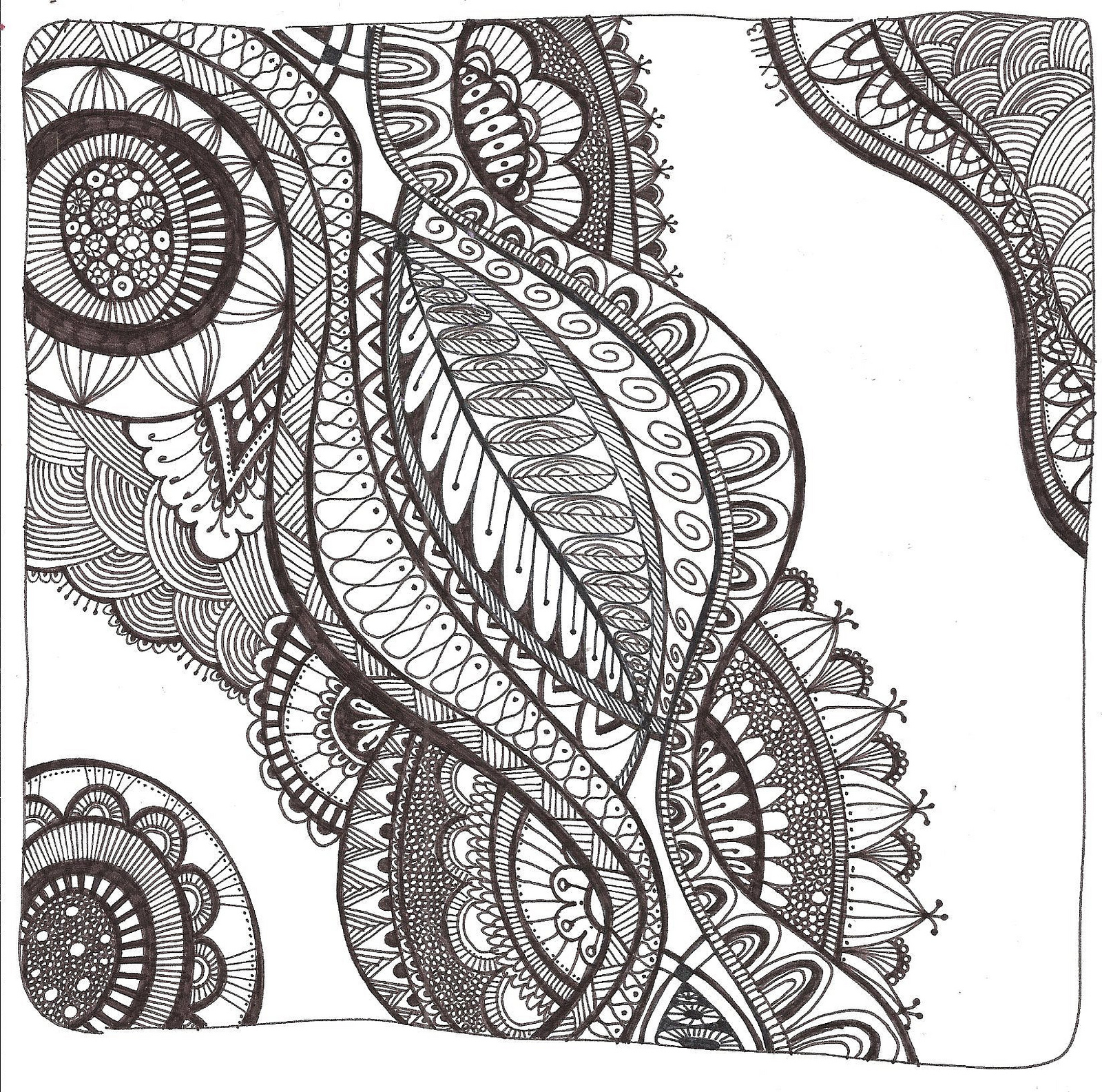 Free printable zentangle coloring pages for adults - Printable Zentangle Coloring Pages Free Zentangle Printables