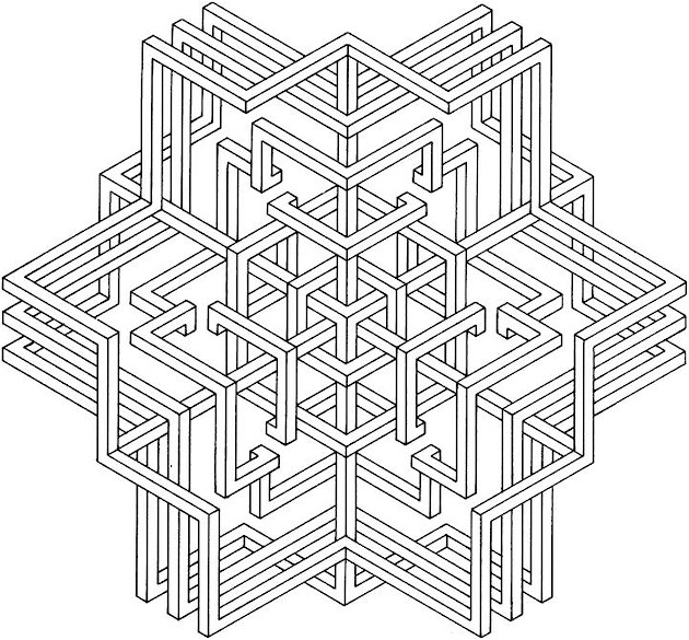 coloring pages geometric shapes - photo#25