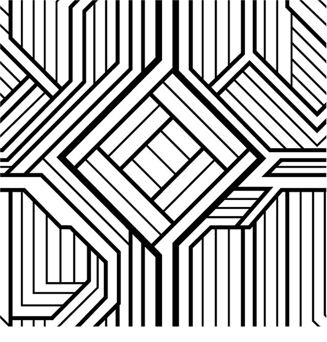 easy geometric design coloring pages - photo#30