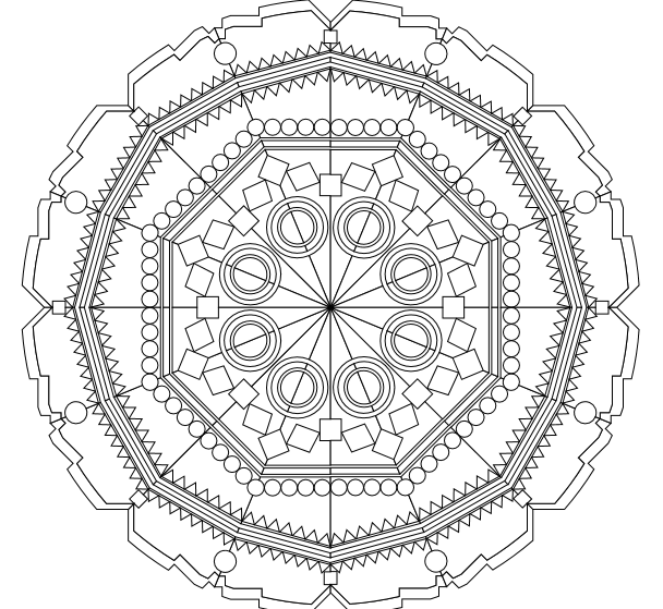 geometric mandala shaped coloring pages