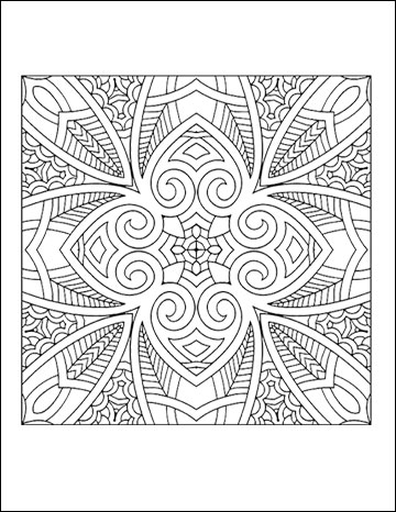 Geometric Coloring Pages Printable Free For Adults