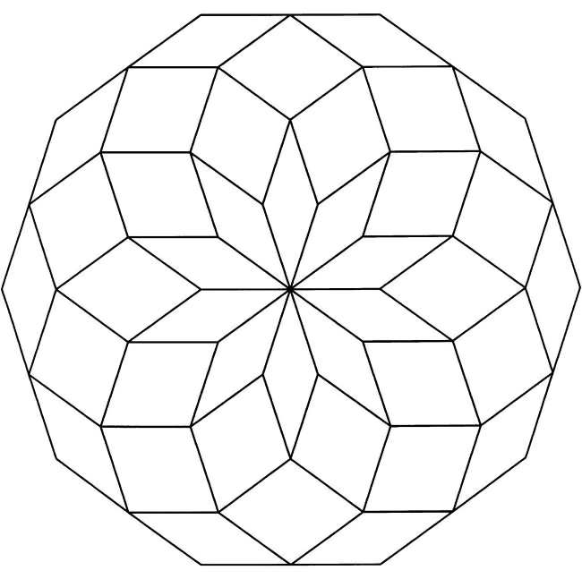 easy geometric design coloring pages - photo#26