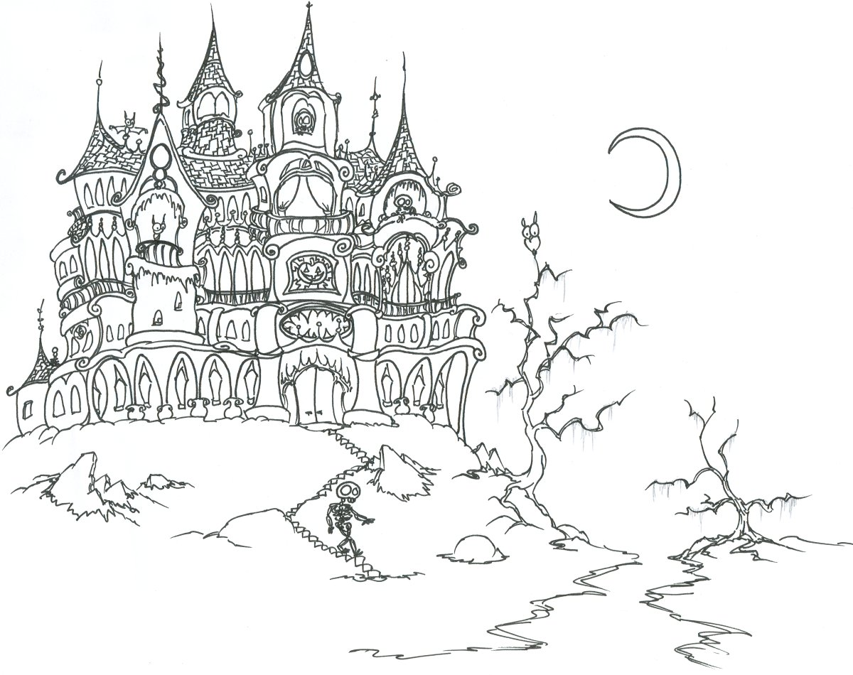 Colouring in sheets for halloween - Halloween Coloring Sheets