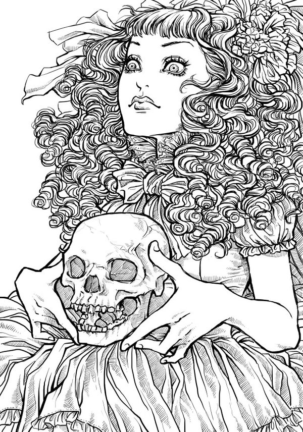 Free Printable Halloween Coloring Pages for Adults Best Coloring