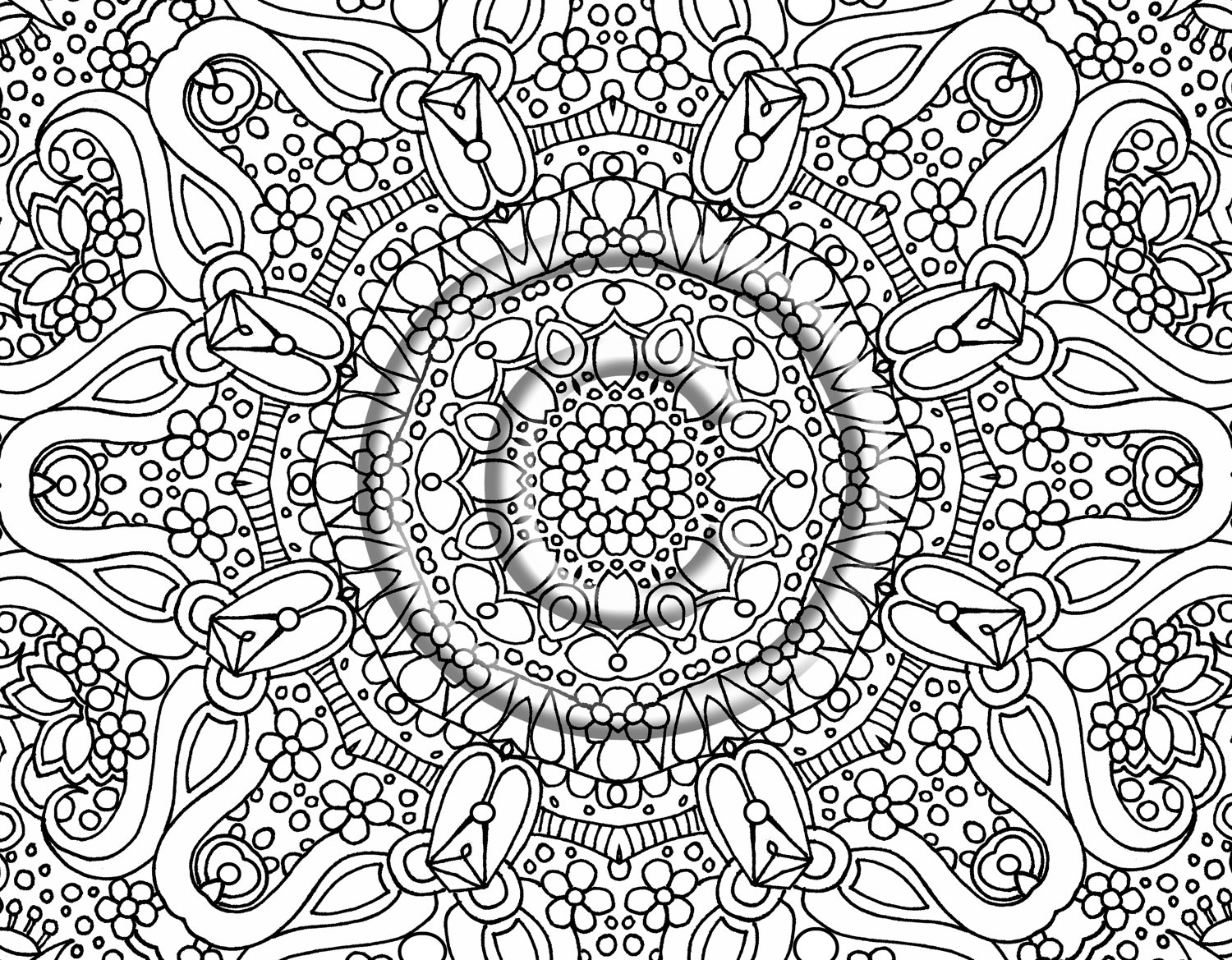 Free printable abstract coloring pages for adults for Hard printable coloring pages
