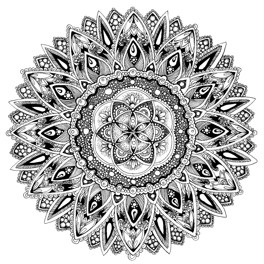 intricate mandala coloring pages free - photo#39