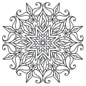 mandala coloring pages - Printable Abstract Coloring Pages