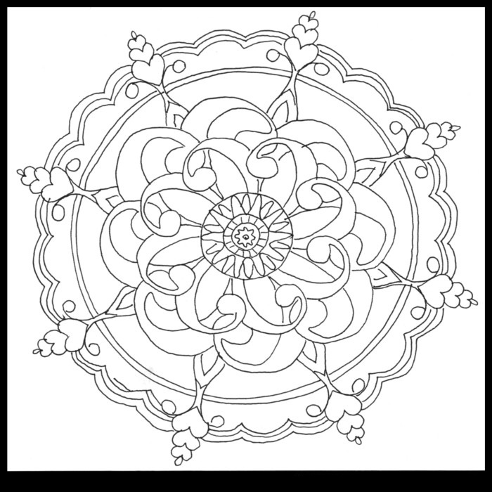pattern coloring pages - Printable Abstract Coloring Pages